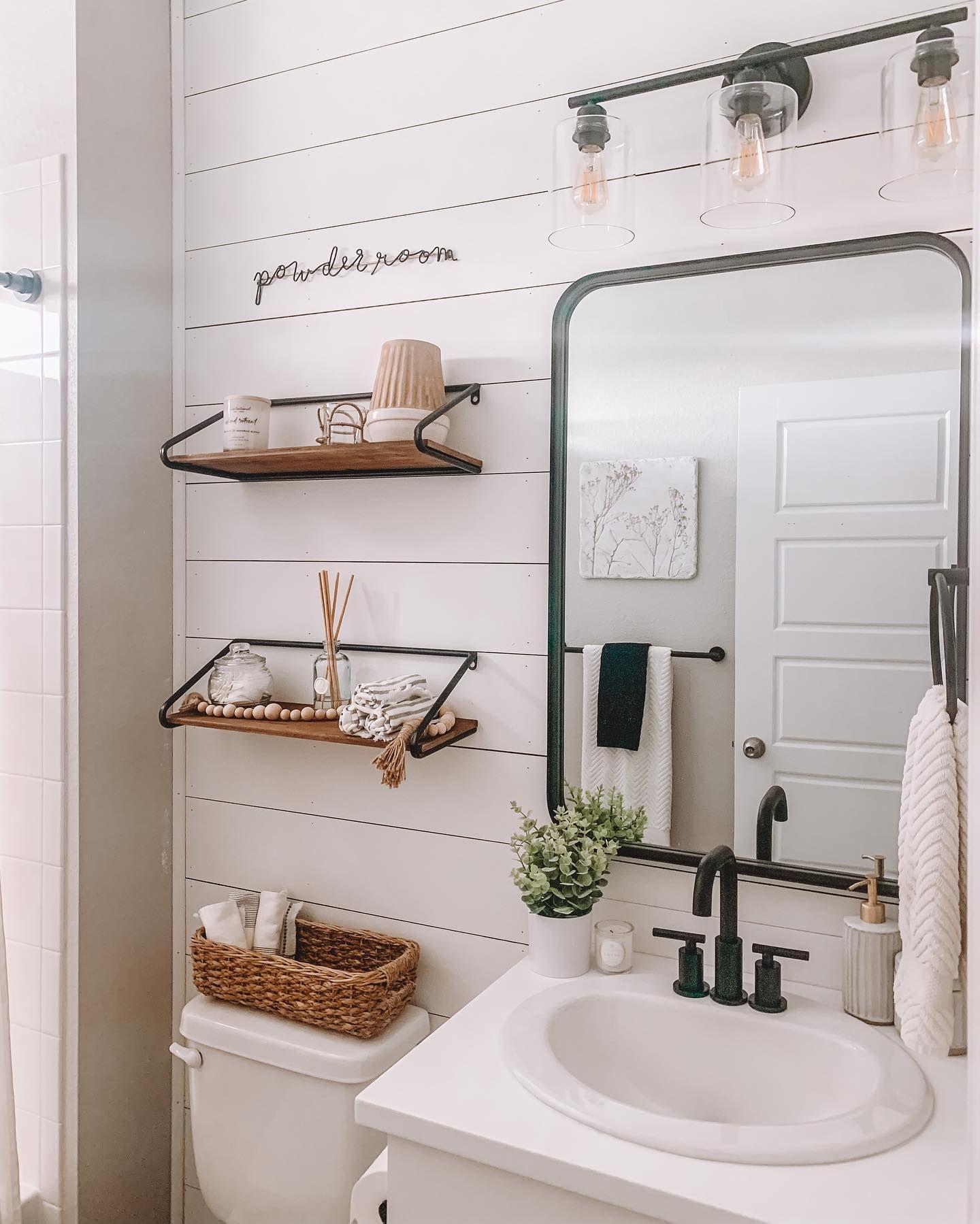 Targetstyle Athomewiththeleachs In 2021 Shiplap Bathroom Wall Simple Bathroom Decor Bathroom Accent Wall