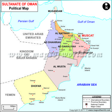 A Map Of Oman Oman Map Geography