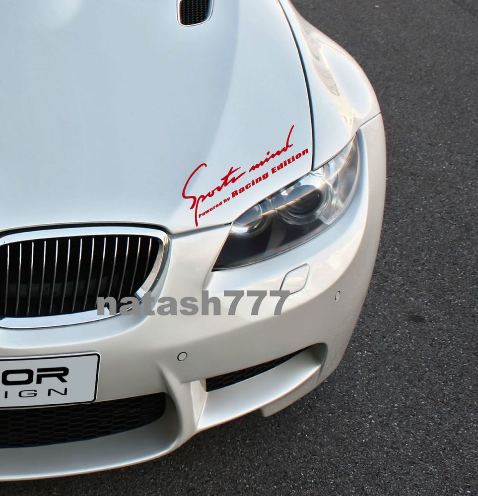 Sports Mind Powered By Racing Edition Bmw M3 M5 M6 Vinyl Decal Sticker Red Natash777 Vinyl Decal Stickers Sports Vinyl Decals Bmw M3