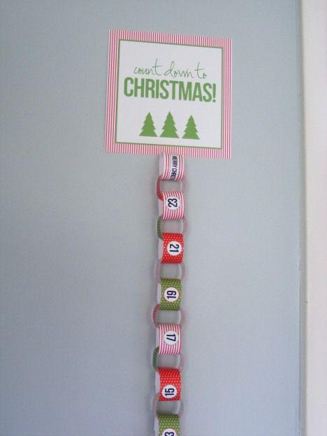 Countdown Chain Freebie Christmas Paper Chains Xmas Countdown Preschool Christmas