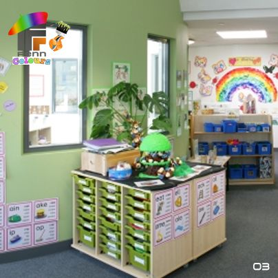 Black and green classroom decor