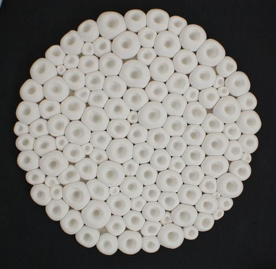 Sculpture de mur d'océan - Textures de mer de corail Textures d'argile blanche Miniature D'art ...