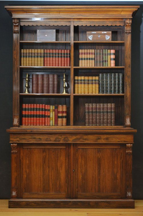 Victorian Rosewood Library Bookcase in 2019 | 书柜 ...