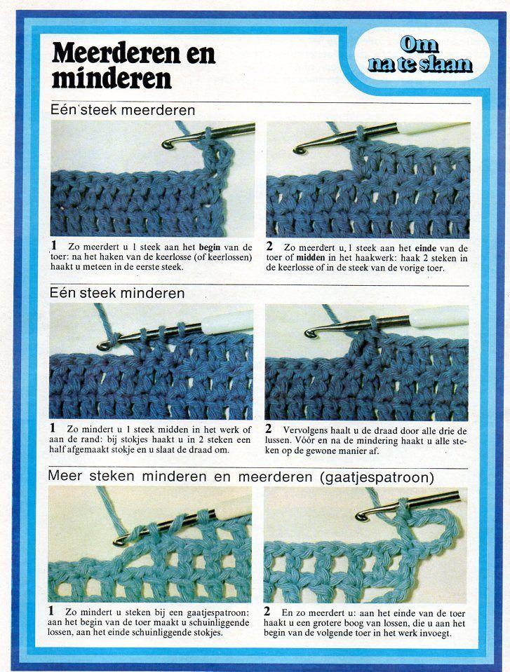Stokjes Haken Meerderen En Minderen Haken Pinterest Crochet