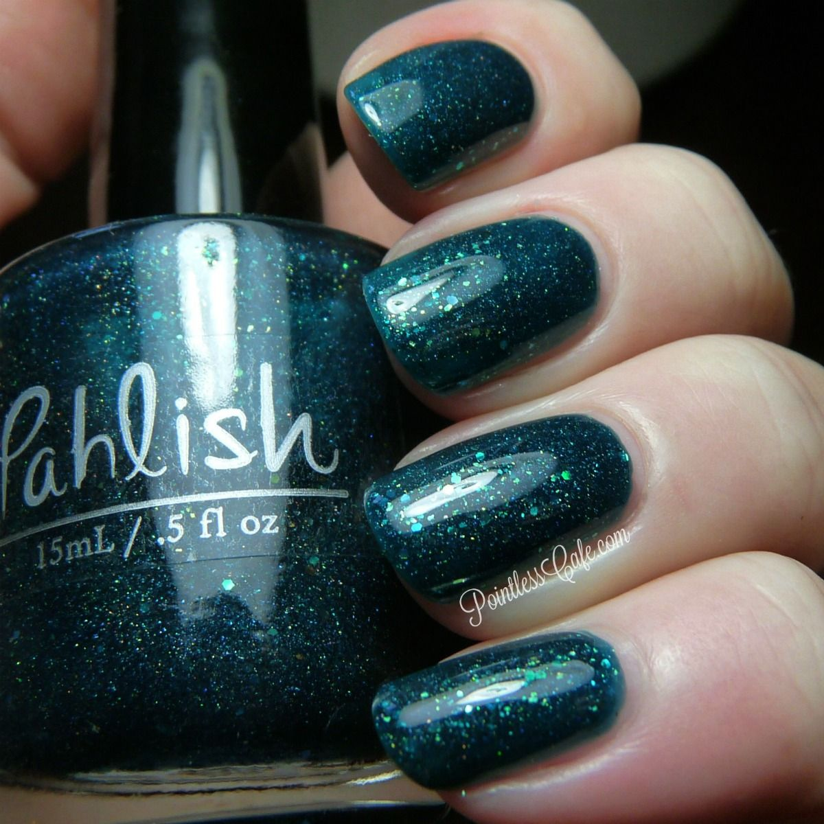 Pahlish: Dangerous Muted Lunatic ... a medium-to-dark turquoise/teal ...