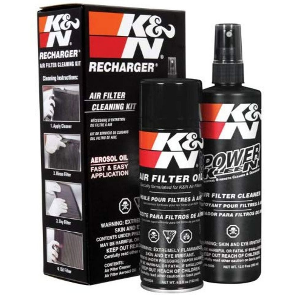 K&N 995000 AIR FILTER CLEANING CARE SERVICE KIT W/ OIL