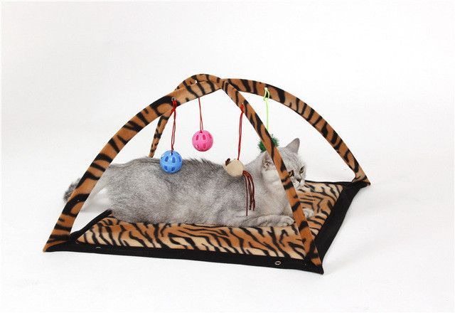 Pet Cat Bed Cat Play Tent Toys Mobile Activity Playing Bed Toys Cat Bed Pad Blanket House Pet Furniture Cat House With Ball | Products | Pinterest | Bed ...  sc 1 st  Pinterest & Pet Cat Bed Cat Play Tent Toys Mobile Activity Playing Bed Toys ...