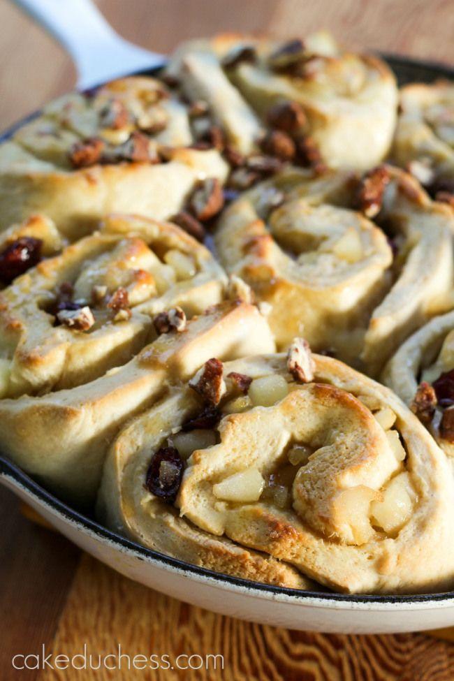 pear cranberry rolls | cake duchess