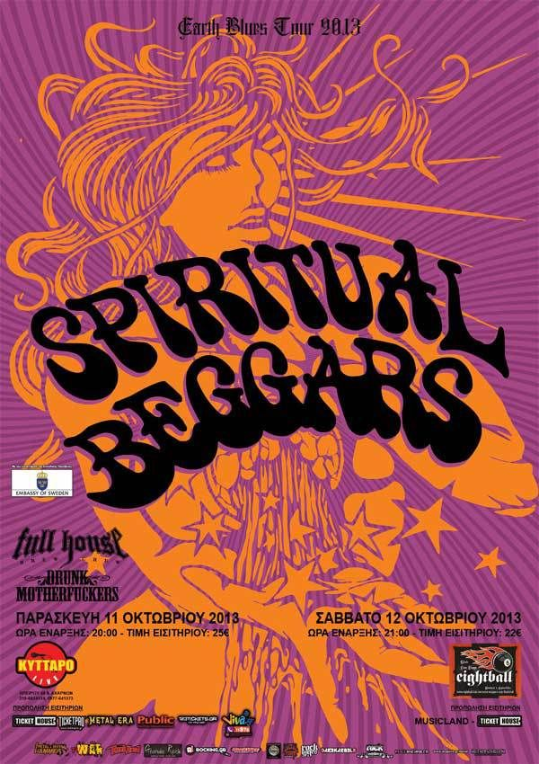 SPIRITUAL BEGGARS live at Kyttaro Club 11/10/2013