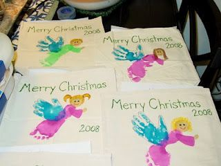 Handprint/Footprint Angels | Craft Ideas | Christmas ...