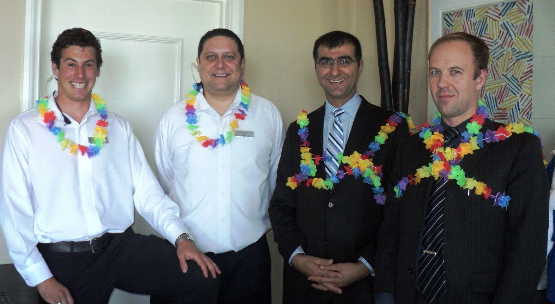Gaston, Avi, Tolga & Eugene, living it up  in #Malibu!