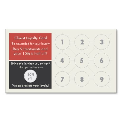 Salon Loyalty Business Card Stamp Make Your Own With This Great Design All You Need Is To Add Info Template