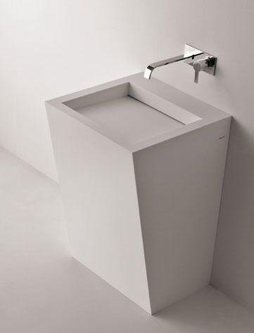 Slash, Freestanding Bathroom Sink In Corian By Antonio Lupi _