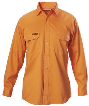 Hard Yakka Y07500Cotton Drill Shirt Long Sleeve Safety
