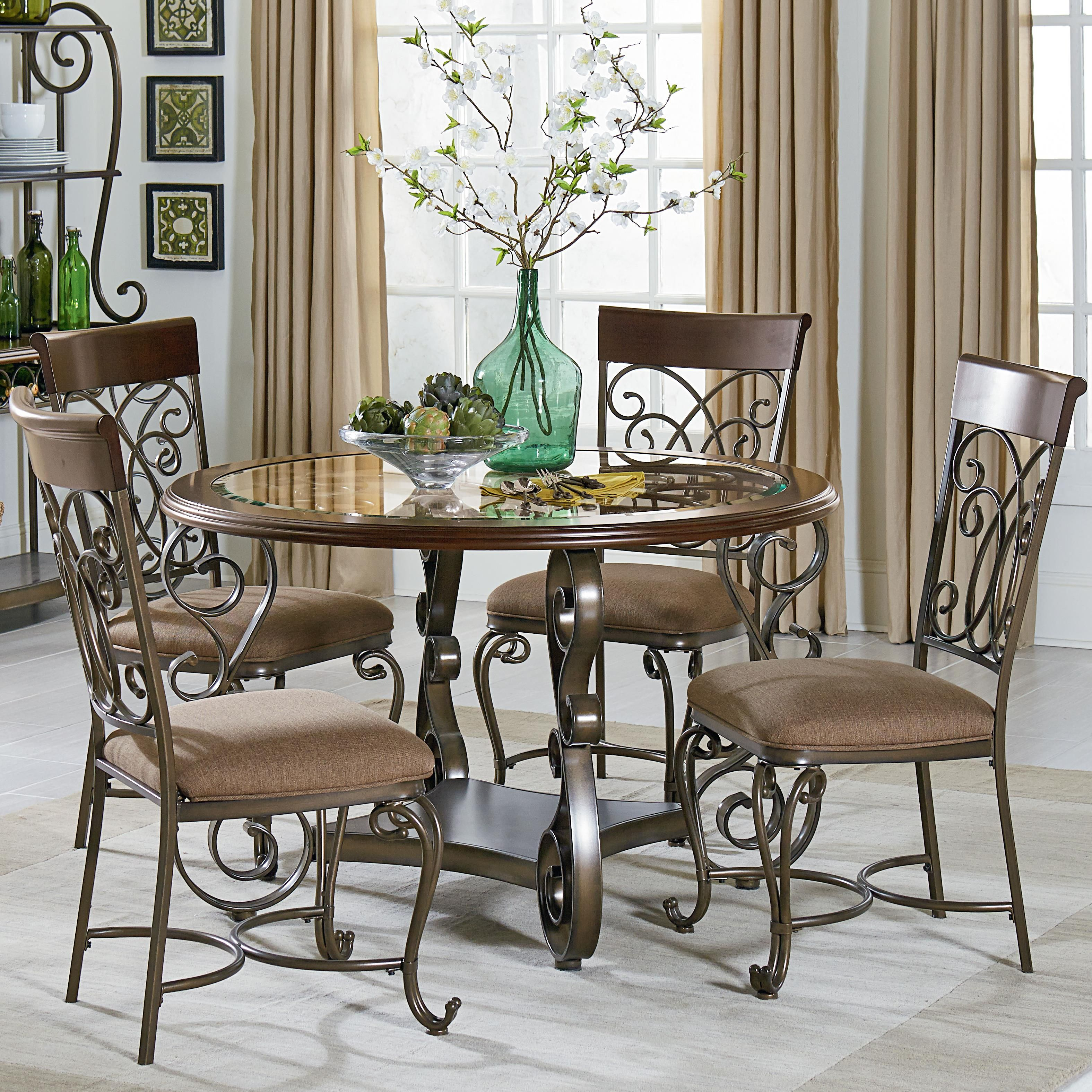 Bombay Round Table and Chair Set With