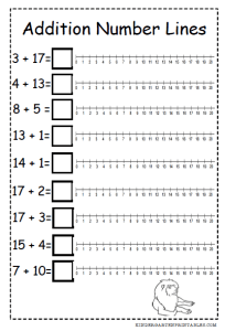 Addition Number Lines - 2nd Grade img … | worksheets | Line …
