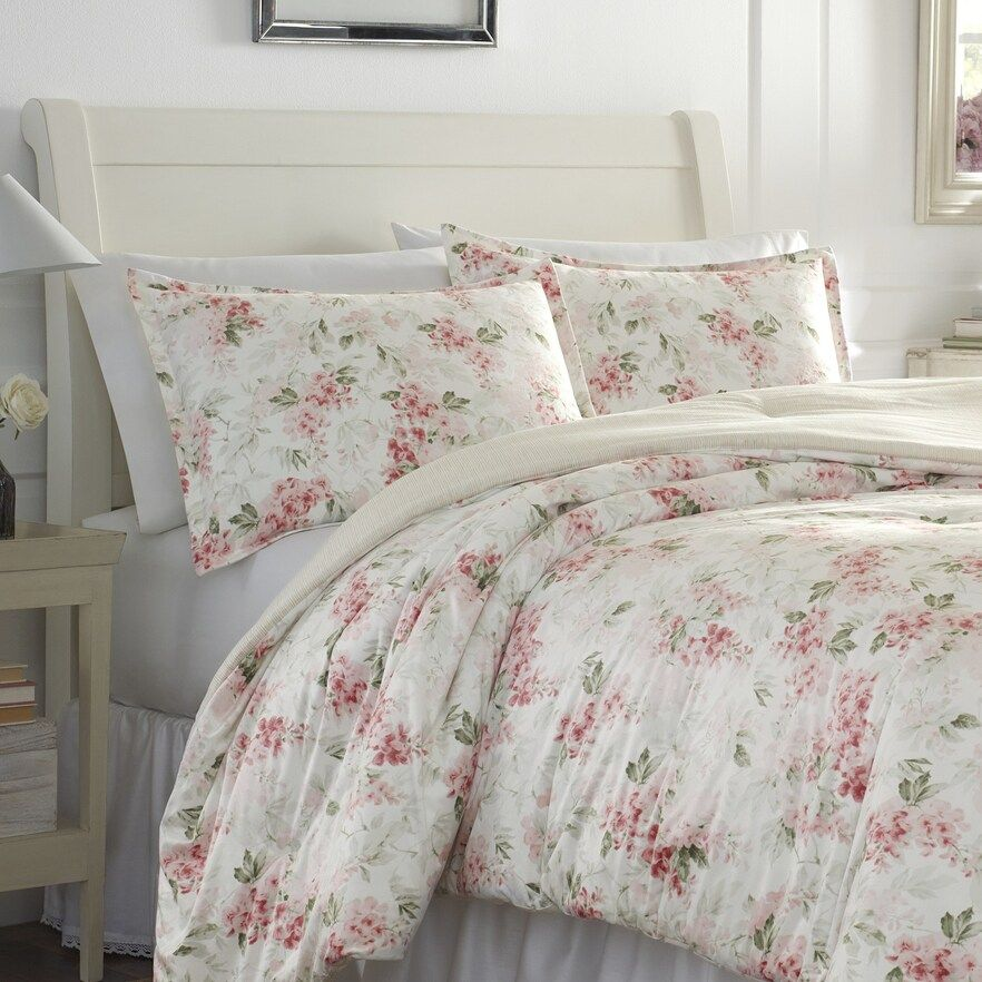 Laura Ashley Wisteria Floral Comforter Set in 2020 Pink