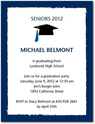 cheap and easy graduation invitations and thank yous
