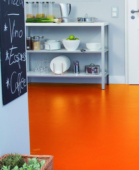 Pop Orange Roomset Vinyl Flooring Flooring Vinyl