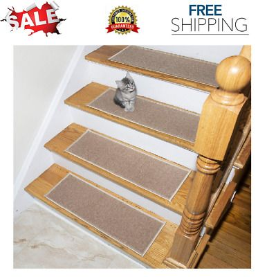 Best Details About Carpet Stair Treads Non Slip Set Of 7 Step 400 x 300