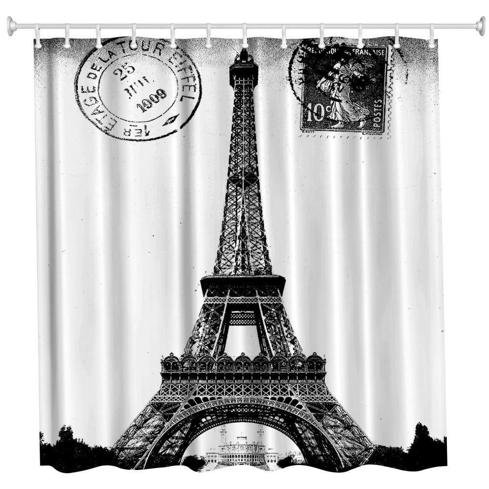 Shower Curtain 3D Window Waterproof Beach Themed  Bathroom Decor MA