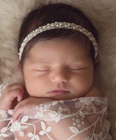 Ivory Beaded Pearl Headband  zulily  zulilyfinds  LilMissSweetPea   BabyShowerGIft  PhotoProp d27d5b98f36
