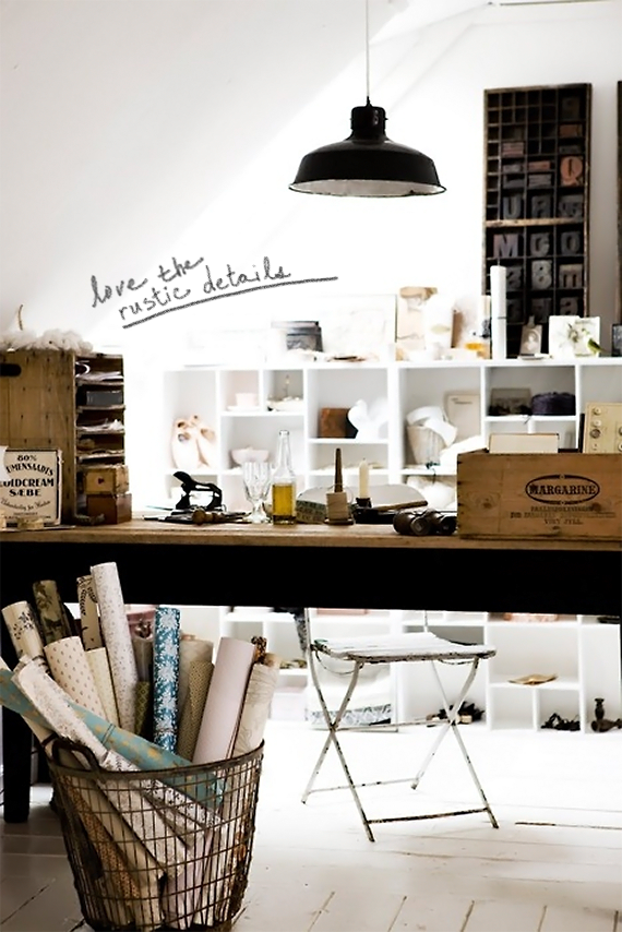 Bubby and Bean ::: Living Creatively: Studio Makeover >> Inspiration for A Home Based Workspace