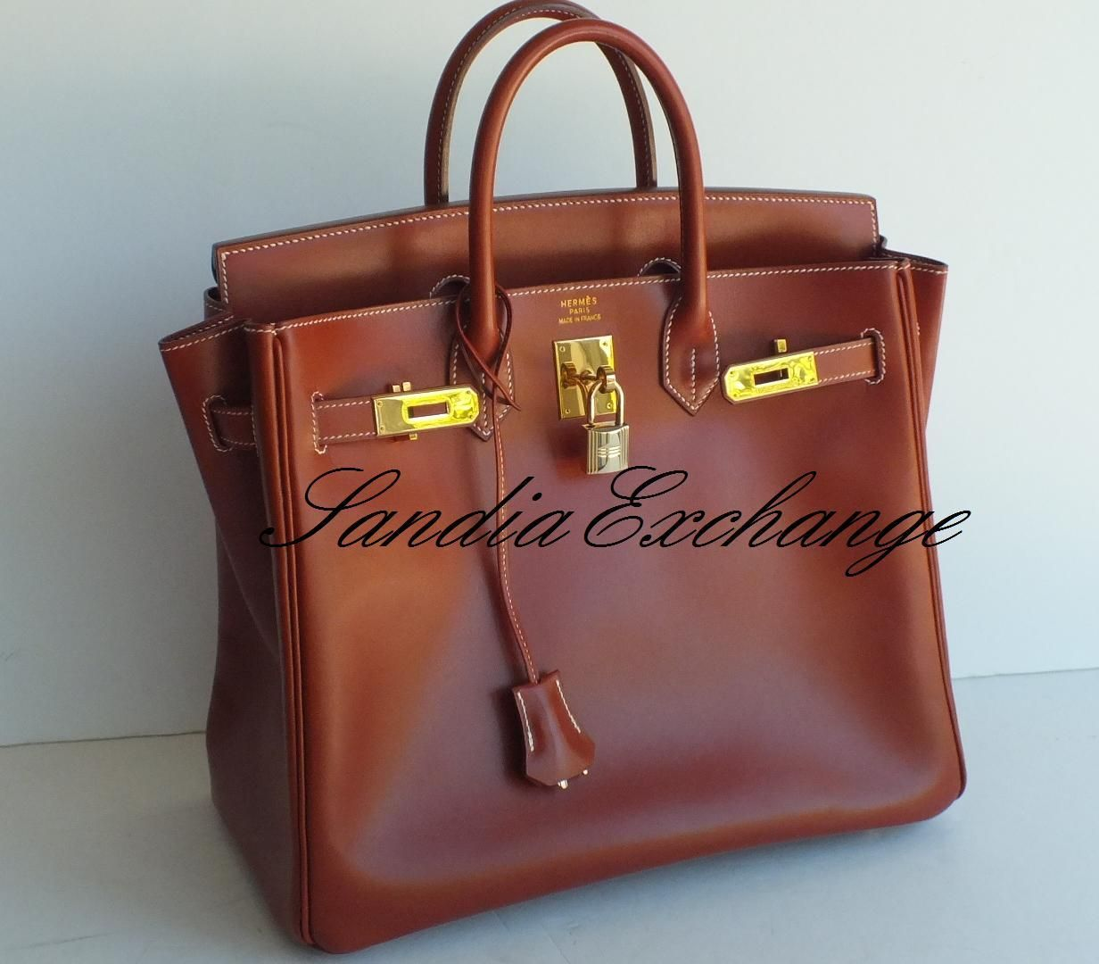 Hermes HAC 32 cm Birkin Box Calf Brick Authentic - Images hosted at  BiggerBids.com acd7a0bcce