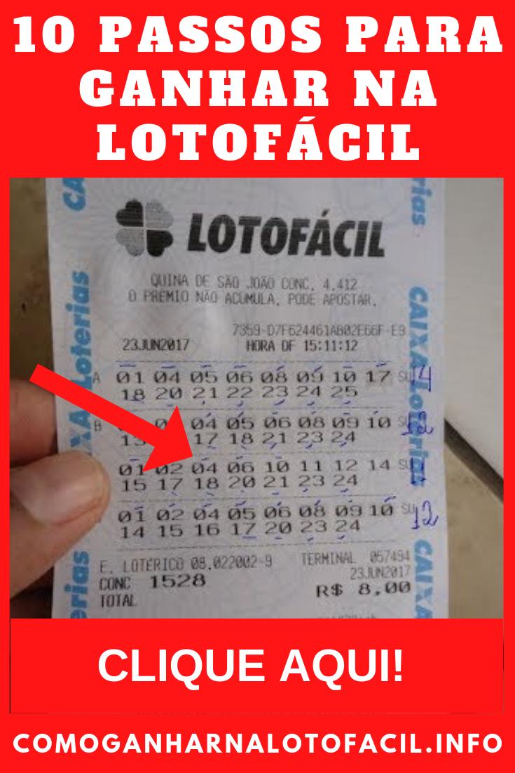 segredo para ganhar na lotofacil