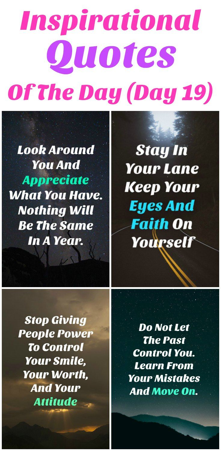 Life Changing Inspirational Quotes Inspirational Quotes Of The Day  Day 19