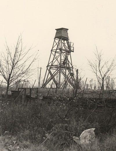 Watchtower at the Berlin sector border, November 1964