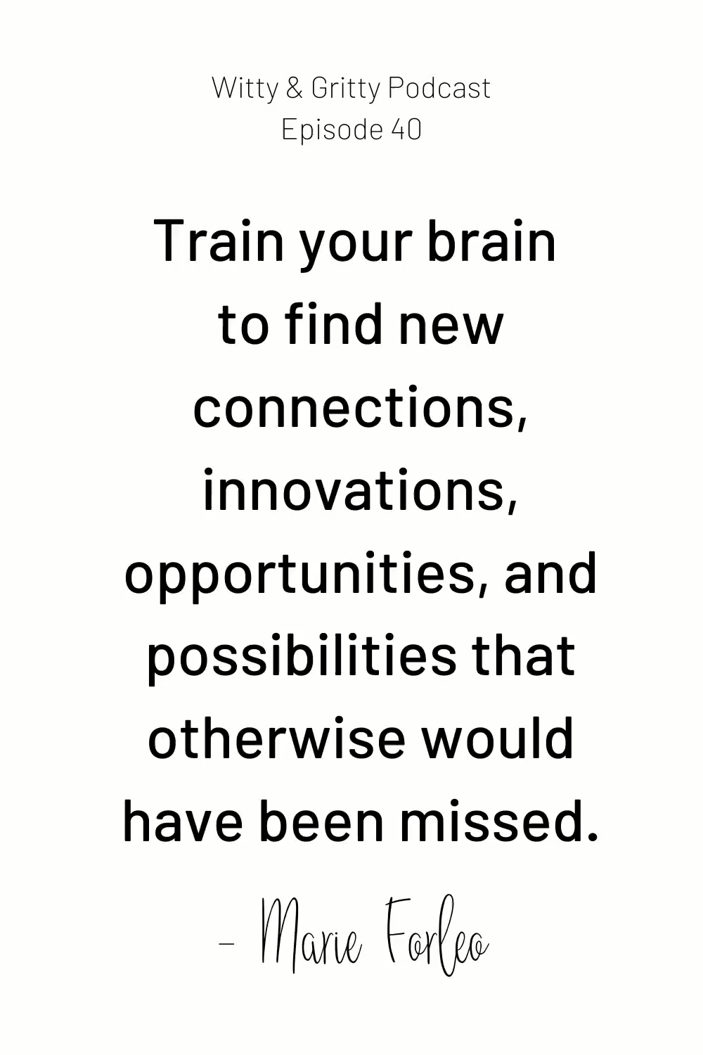 New Connections and Opportunities