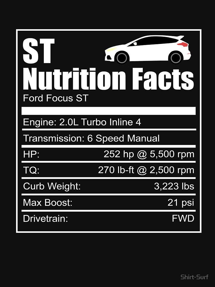 Ford Fiesta St Nutrition Facts Focus Rs Wrc Rally Turbo Ken Block T Shirt By Shirt Surf Redbubble Ford Focus St Ford Fiesta St Ford Fiesta