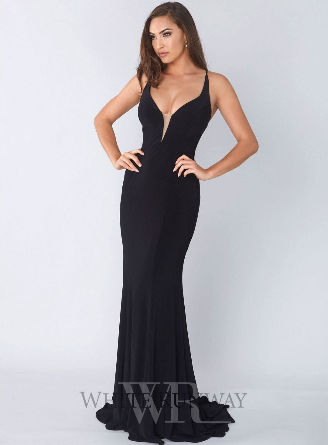 9526bcbed9 Matea Gown. A stunning full length dress by Tinaholy. A plunge gown with  mesh