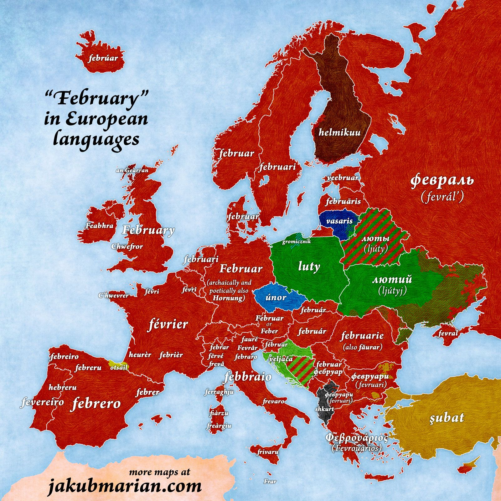 February in european languages to become a polyglot march the english name of the third month of the year comes from mars the name of the roman god of war the latin name of the month was martius gumiabroncs Images