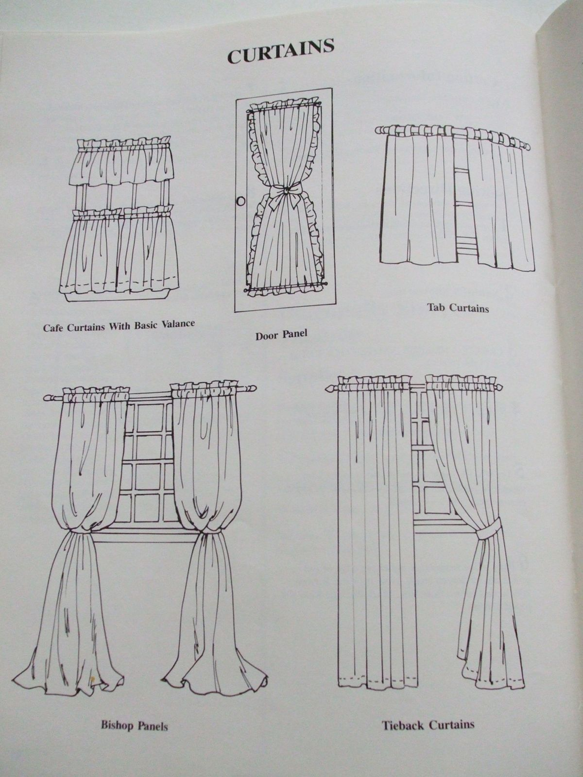 Window Treatments Simplicity Sewing pattern book curtains drapes ...
