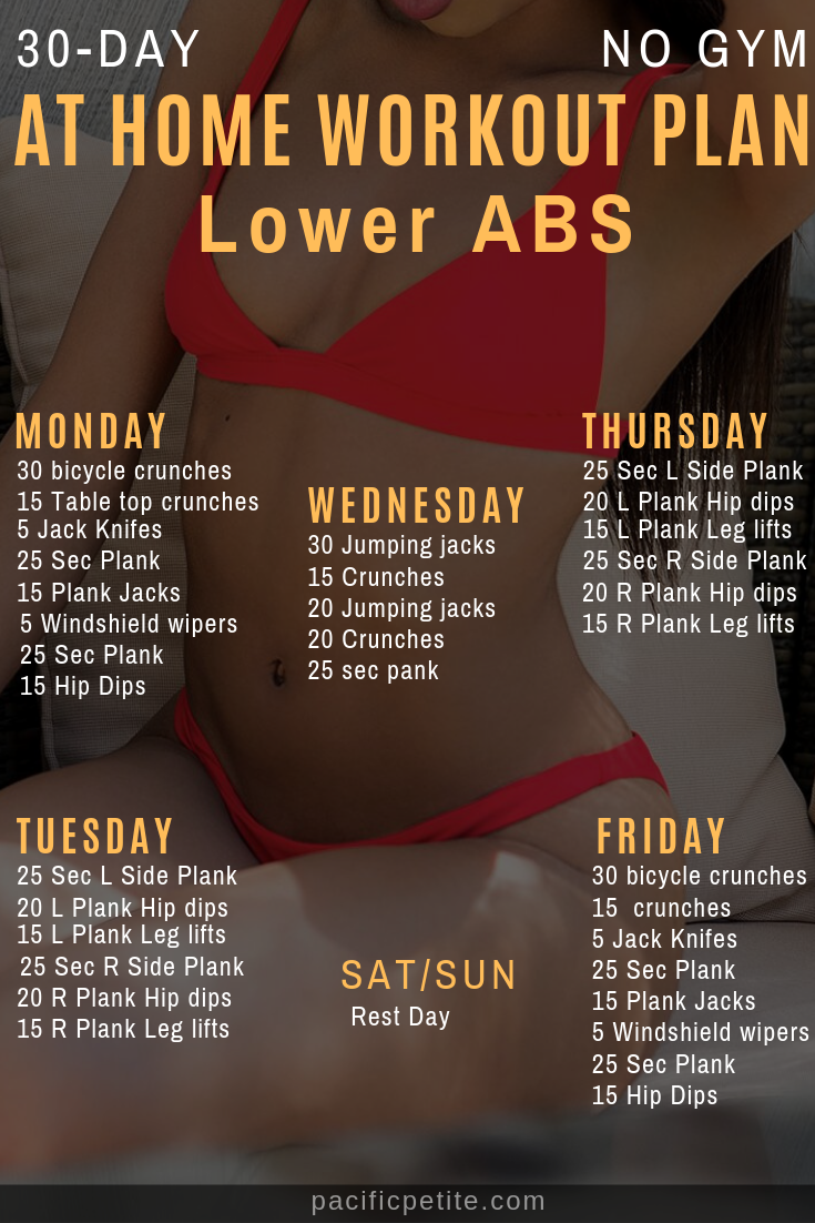 30 day challenge at home workout plan for lower abs best for belly pooch.  - fit life - #Abworkoutsa...