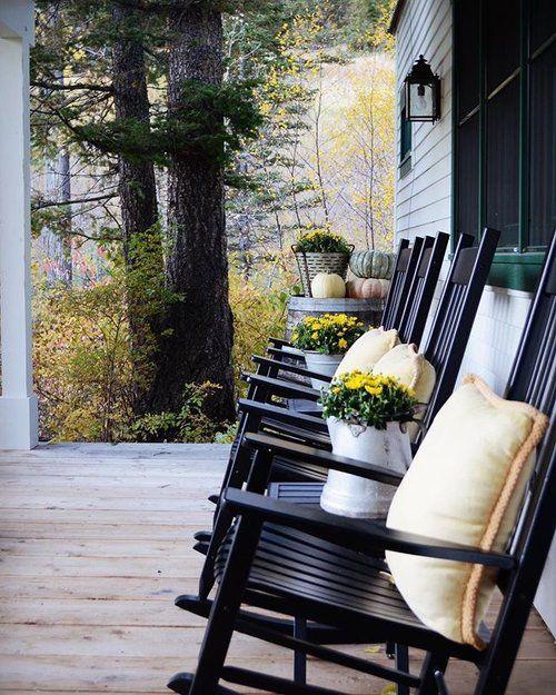 Fine Country Porch Black Rocking Chairs New House In 2019 Inzonedesignstudio Interior Chair Design Inzonedesignstudiocom
