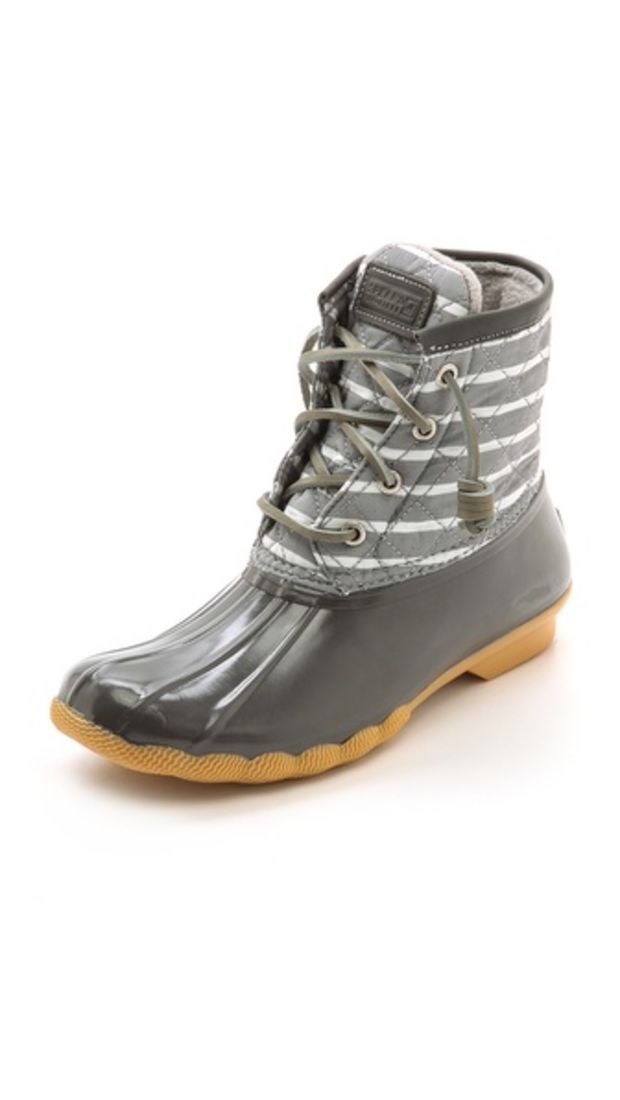 7fe2d58fac1 Sperry Top-Sider Saltwater Striped Duck Boots | Stuff I can actually ...
