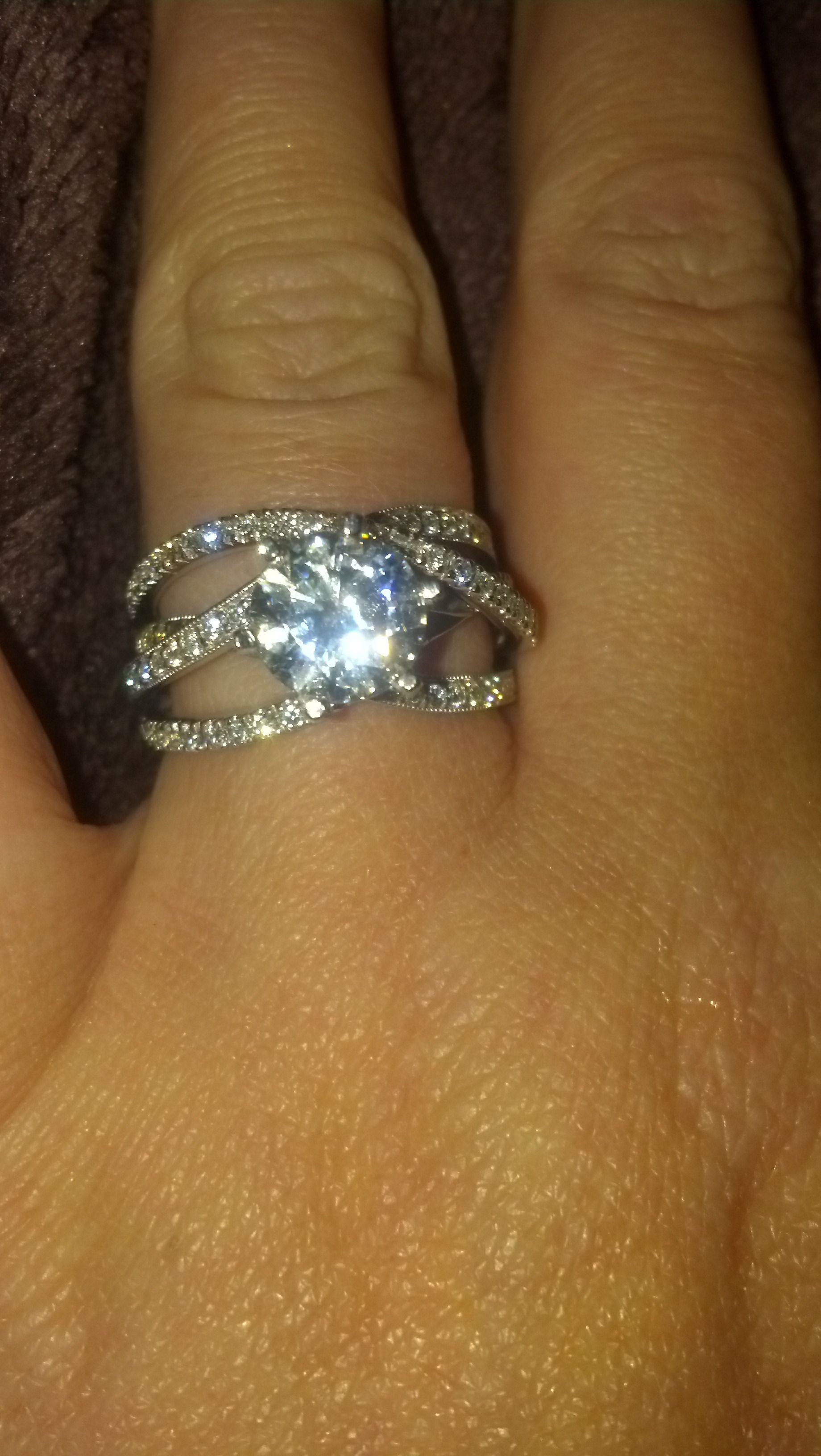 Beautiful 2 carat center stone engagement ring Ecclesiastes