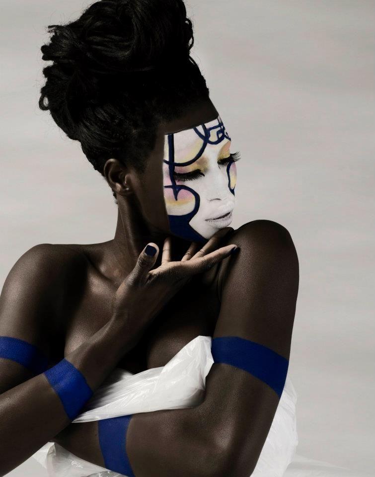 white, circus, Creative makeup Art