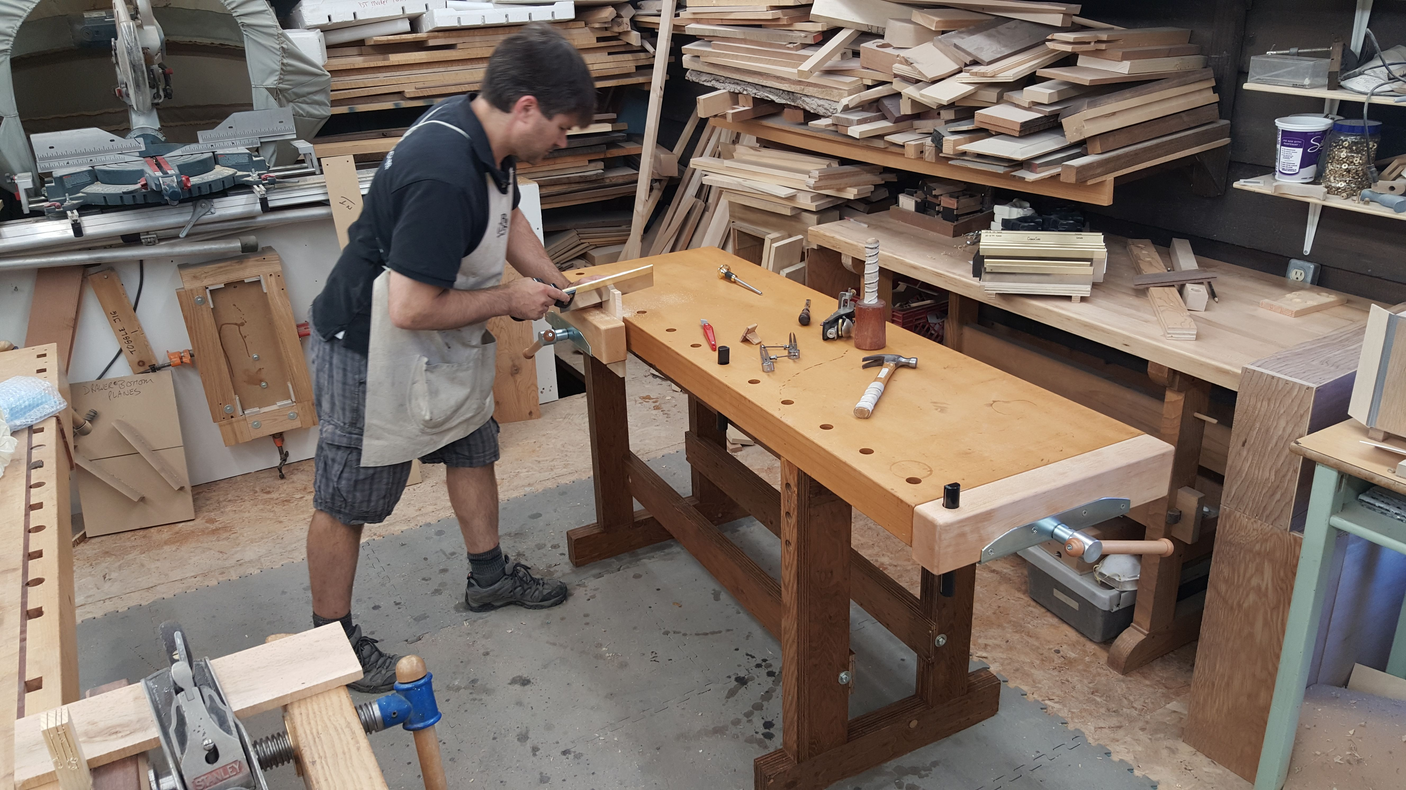 build a workbench with rob cosman | tool storage | building