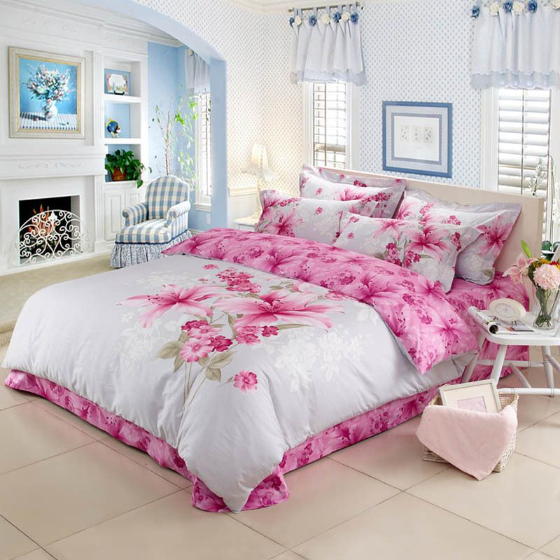 Cheap bedding set buy quality bedding set flower directly from cheap bedding set buy quality bedding set flower directly from china cover sheet suppliers 3d pink lily bedding set flowers linen king queen double size mightylinksfo
