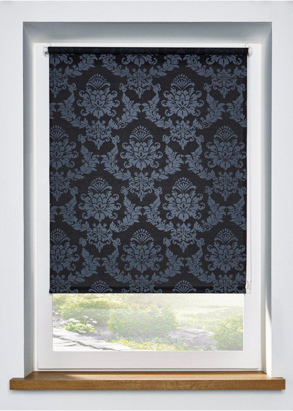 Rollo Mit Elegantem Ornament Druck Schwarz Grau Klemmtrager Elegantem Klemmtrager Mit Ornamentdruck Rollo Sc In 2020 Roman Shade Curtain Home Decor Curtains
