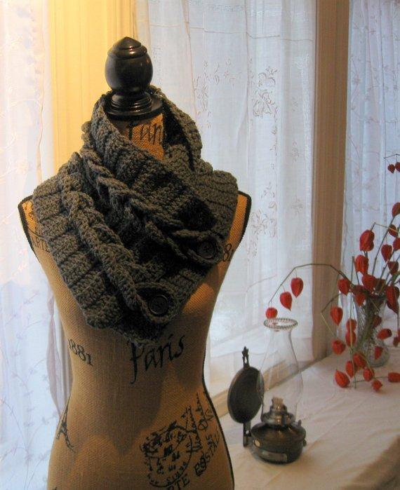 Pictorial Crochet Pattern Braided Cowl Crochet Pattern Instant
