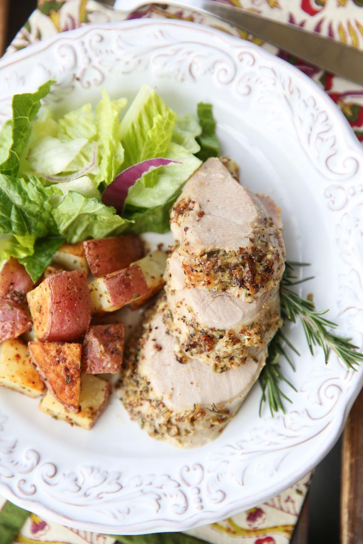 Garlic Rosemary Pork Tenderloin