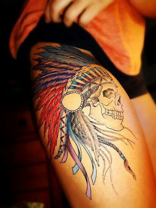 39044ec67a308 Indian tattoo maybe a face, instead of skull though.. | Tattoo's ...