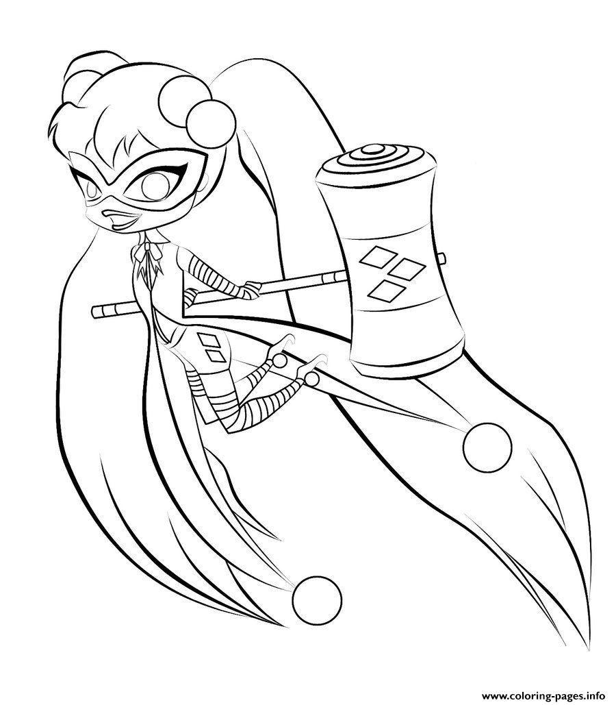 Print harley quinn kids online harley quinn coloring pages ...