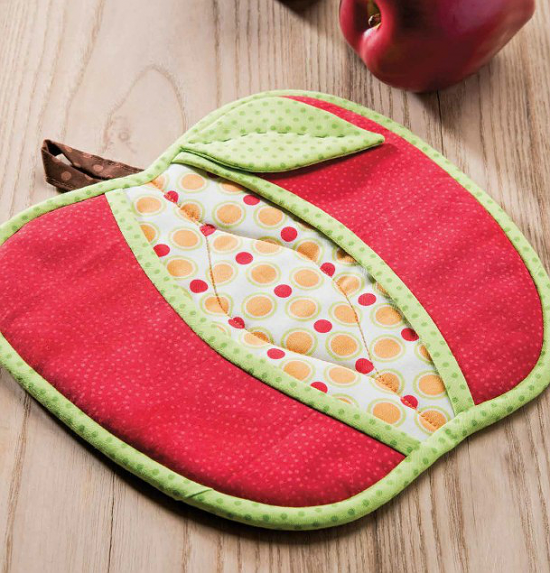 An Apple Every Day For Your Kitchen Pot Holders Sewing Patterns