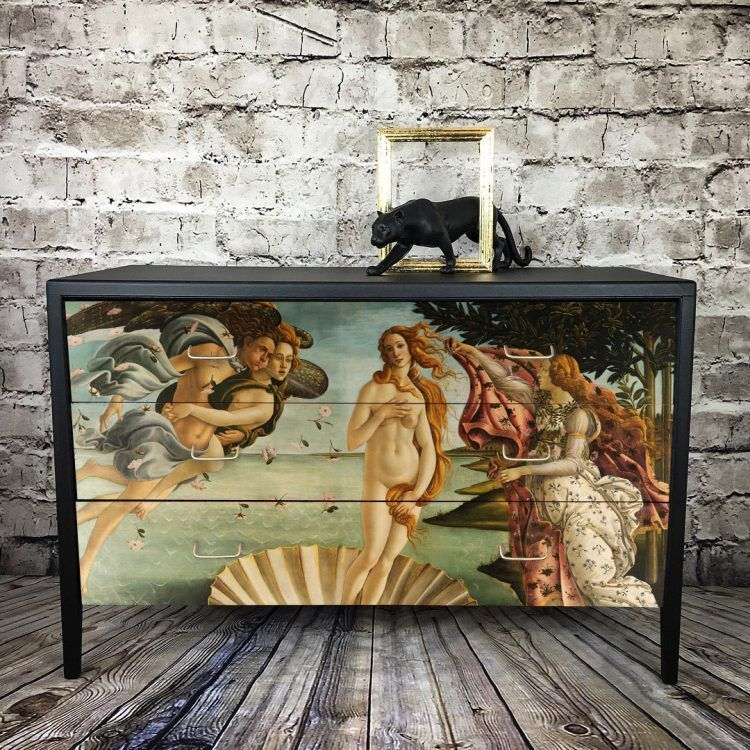 Upcycled Vintage Chest Of Drawers Classic Art – The Birth Of Venus#art #birth #chest #classic #drawers #upcycled #venus #vintage